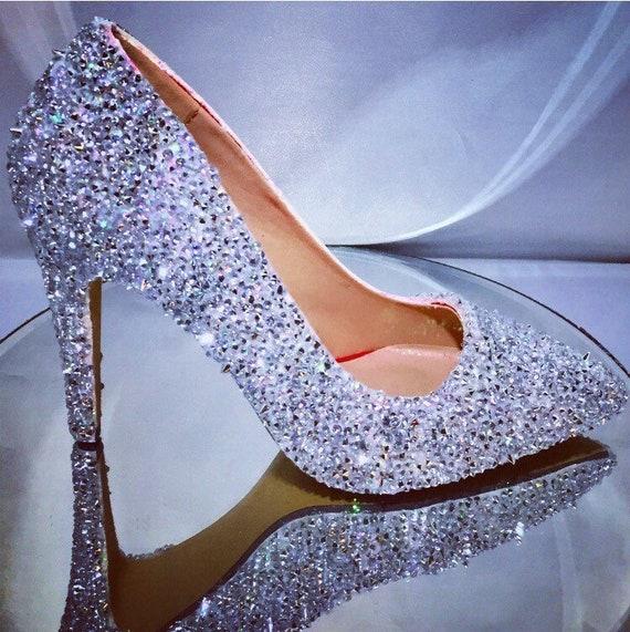 920acbf6fe1c Spike   crystal shoes wedding bridal pumps Swarovski style