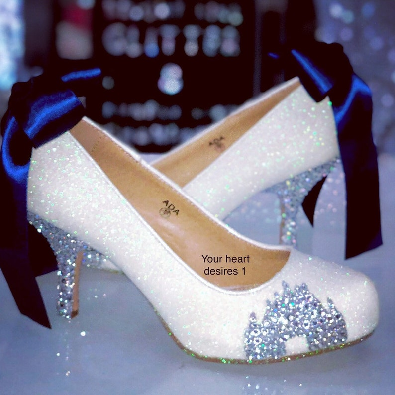 471dc6fad90 Crystal castle wedding shoes   bridal pumps Disney wedding