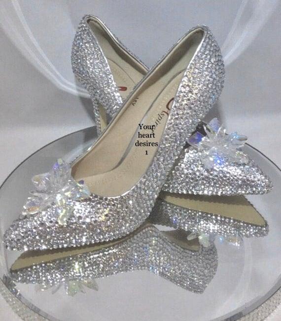 Scarpe Da Sposa Swarovski.Swarovski Look Shoes Cinderella Wedding Heels Bridal Wedding Etsy