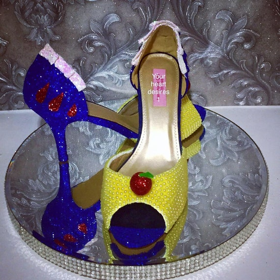 Snow White Shoes Disney Wedding Shoes Bridal Pumps Cosplay Etsy