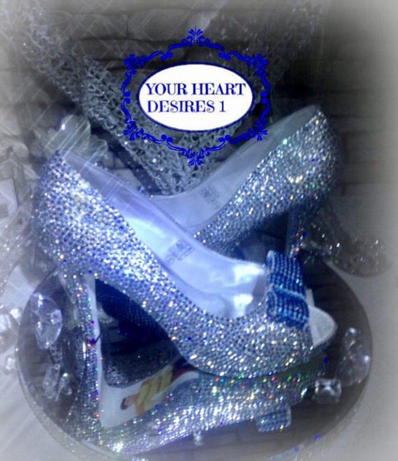 2e6ac253270d5 Swarovski look Crystal shoes   Cinderella   wedding shoes