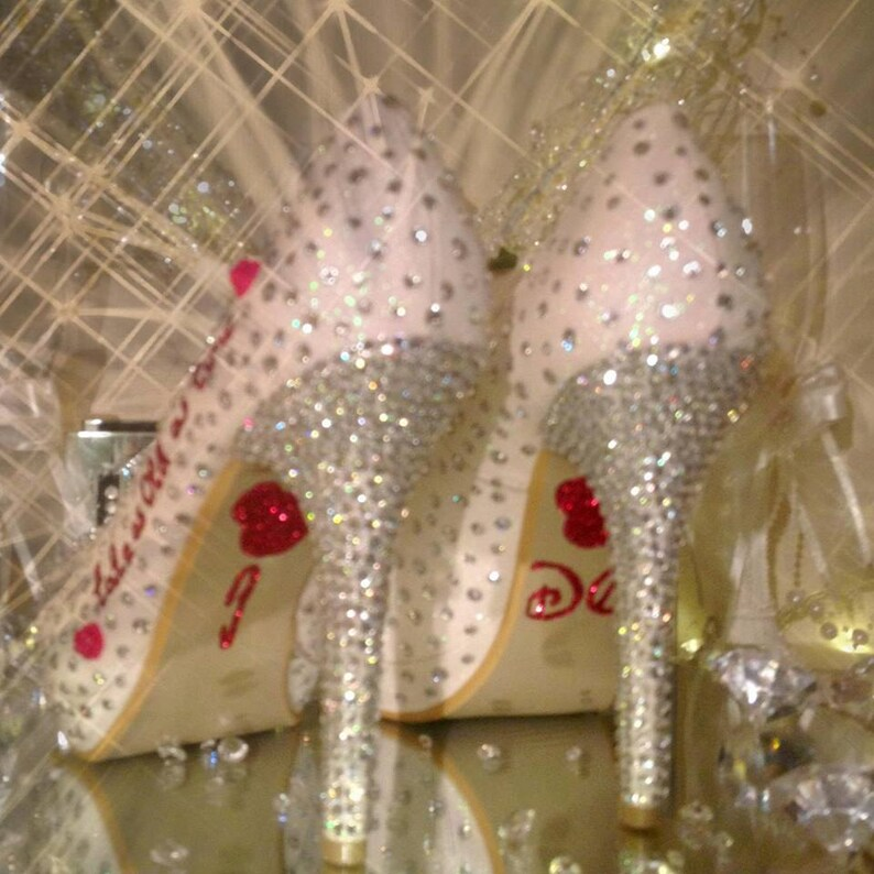 3e65db59b69b Crystal shoes beauty and beast wedding rhinestones strass