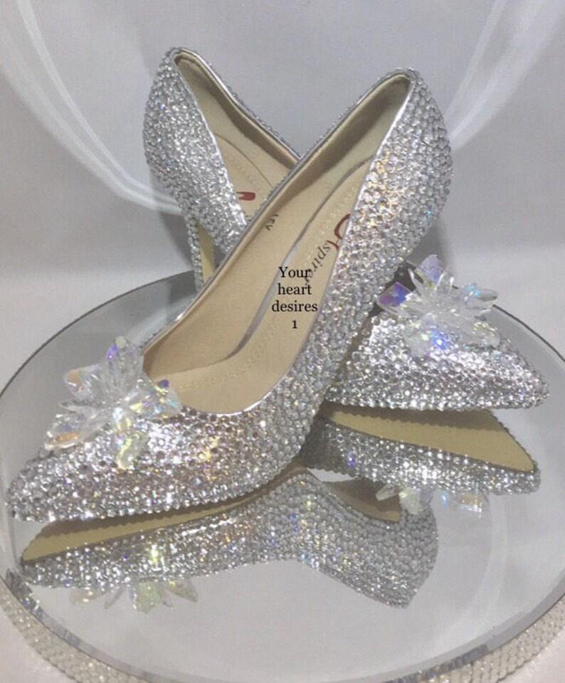 d977e82477c8 Swarovski shoes Cinderella wedding heels bridal wedding pumps