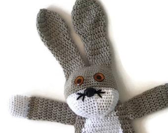 Soft Bunny Buddy, crochet bunny rabbit, stuffed bunny, bunny toy, ragdoll, baby shower gift, new baby gift, floppy bunny, stuffed animal