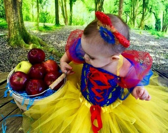 Snow White Style Costume Tutu  Dress *Snow White Inspired