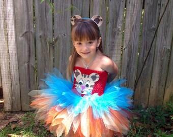 "Inspired by Daniel Tiger Tutu Dress with Ears   *Daniel Tiger""s Neighborhood Inspired"