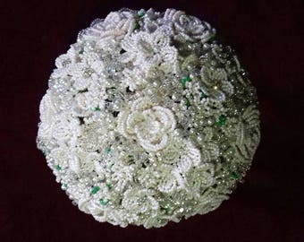 Beaded bridal bouquet