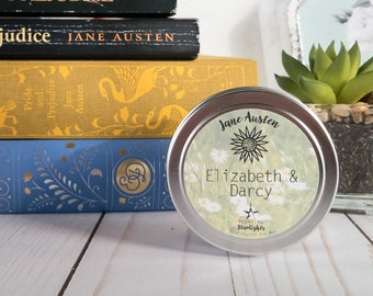 Elizabeth & Darcy   4 oz Candle   Jane Austen   Pride and Prejudice   Bookish   Floating Starlights