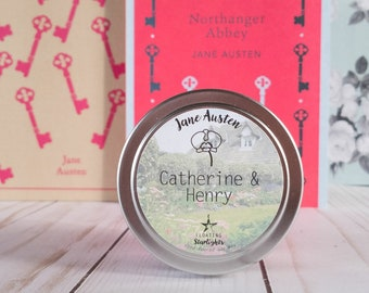 Catherine & Henry | 4 oz Candle | Jane Austen | Northanger Abbey | Bookish | Floating Starlights