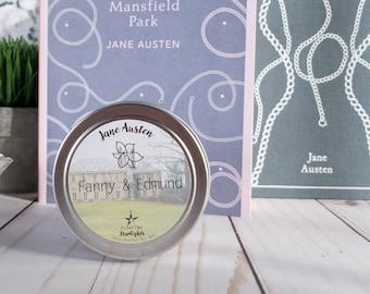 Fanny & Edmund   4 oz Candle   Jane Austen   Mansfield Park   Bookish   Floating Starlights