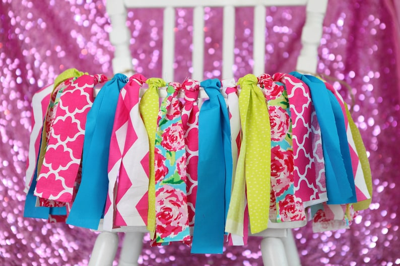 Lilly inspired Banner Lilly inspired Birthday banner Lilly Pulitzer inspired