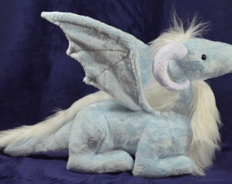 Dragon Plush Sewing Pattern PDF - Sitting Dragon Stuffed Toy PDF Sewing Pattern and Tutorial