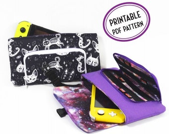 Game System Pouch PDF Sewing Pattern - The Horizon Switch Bag Sewing Pattern with Cartridge Slots - Instant Download