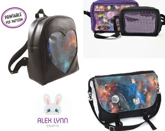 Ita Bag Sewing Pattern Bundle - 3 PDF Sewing Patterns - Backpack, Crossbody (2 sizes) and Messenger Styles