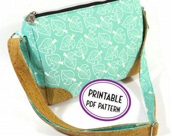 Crossbody Bag PDF Sewing Pattern - The Cygnus - Instantly Downloadable Digital Pattern