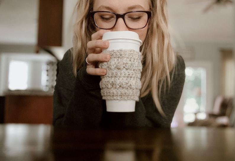 Coffee Cozy Crochet Pattern Bobble Cozy Crochet Pattern // image 0