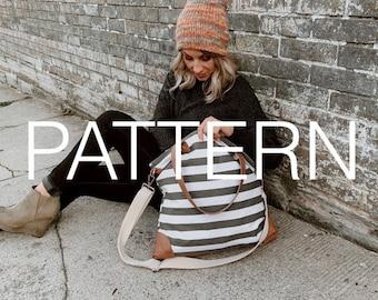 Easy Knit Pattern, Knit Hat Pattern, Slouchy hat pattern //Classic Beanie Knit Pattern