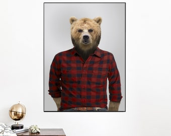 Animal portrait in costume : WOODY - dressed animal portrait - gift idea
