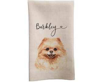 Pomeranian Dog Pom Mom Kitchen Towel Flour Sack Towel Dog Mom Gift Dog Lover Pommy Mommy Pom Dad