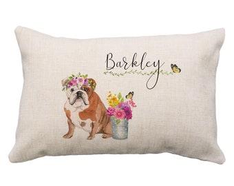 Bulldog Pillow Etsy