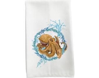 Funny Towels Flour Sack Towel Octopus Tea Towel Dish Towels Cup Towel Hand Towel Nautical Kitchen Towel Screen Printed Cotton Home Living Linens Delage Com Br