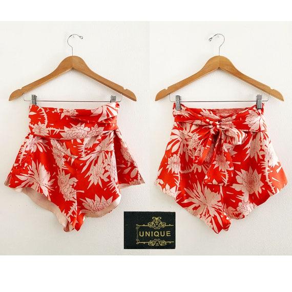 TOPSHOP UNIQUE 30s 40s Style Tropical Floral Silk