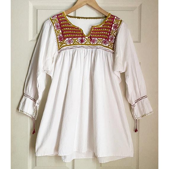 Vintage 1960s Pakistan Cotton Dress  SM