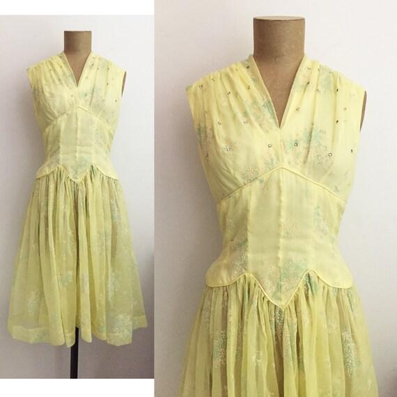 Sheer Rhinestone Dress