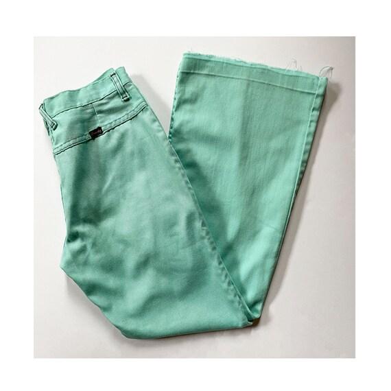 70s WRANGLER Green Jeans - Mint Bellbottoms - Deni