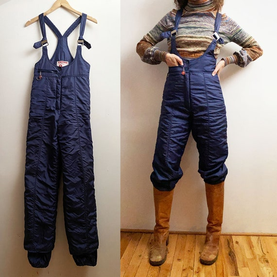 1970s JC Penney Ski Wear - Navy Jumpsuit - Nylon S