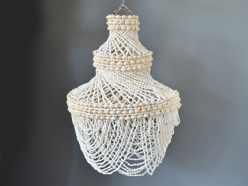 Maritime Folk Art Maritime Vintage Handmade Cowrie Puka Seashell Art Shell Basket Elegant In Style