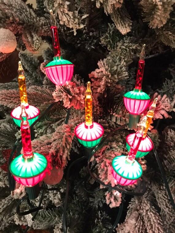 Christmas Bubble Lights.Vintage Noma Christmas Bubble Lights Set Of 4 Bubbling Tree Lights Circa 1970s