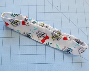 Chip and Dale Print Cotton Elastic Headband