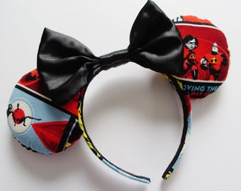 The Incredibles Print Mouse Ears Headband