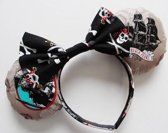 Pirates of the Caribbean Jack Sparrow Print Mouse Ears Headband