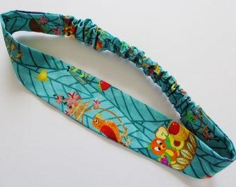 Tropical Tiki Room Orange Bird Print Cotton Elastic Headband