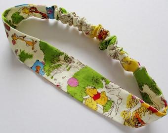 Winnie the Pooh Hundred Acre Wood Print Cotton Elastic Headband