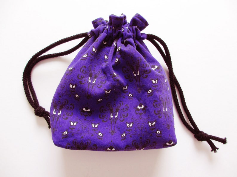 Haunted Mansion Wallpaper Print Drawstring Pouch