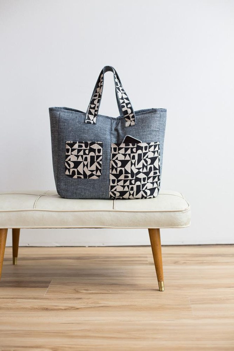 FIKA Tote pattern Designed by Noodlehead