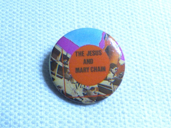 Vintage 80s The Jesus and Mary Chain Pin / Button