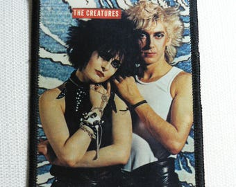 Vintage 80s The Creatures / Siouxsie Sioux and Budgie - Sew On Photo Patch