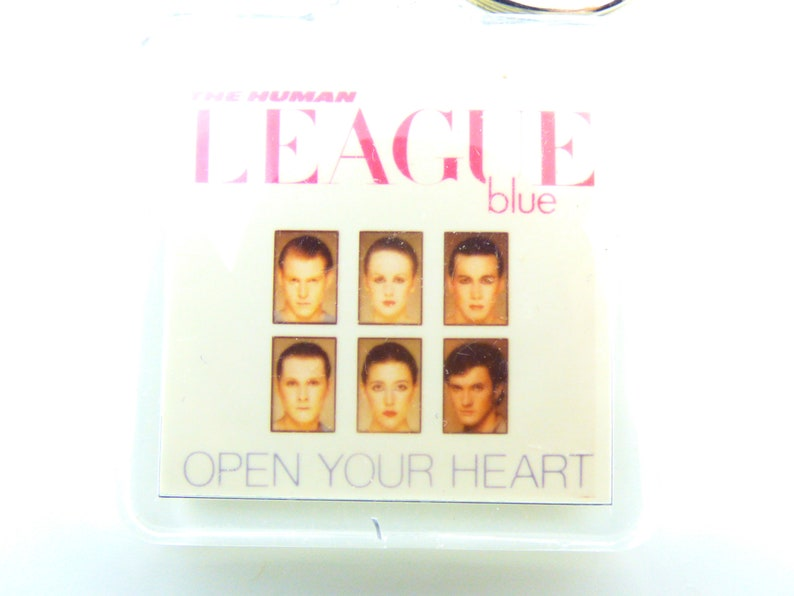 Open Your Heart Single Keychain Vintage 80s The Human League 1981