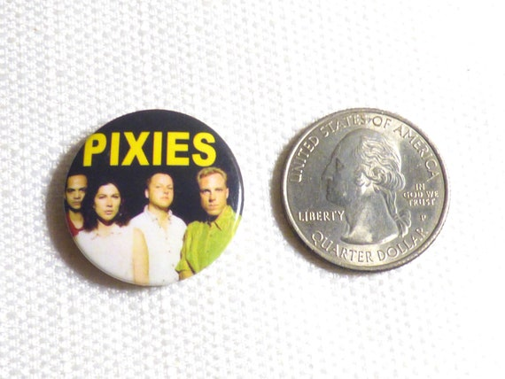 Vintage Late 80s or Early 90s Pixies - Pin / Butt… - image 2