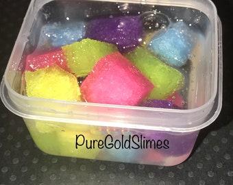 Rainbow jelly slime