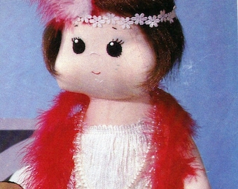 """Sewing Pattern is to make a 1920's Flapper Girl 20"""" doll dress panties"""