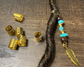 Sesame Jasper Small Loc Beads Set of 5
