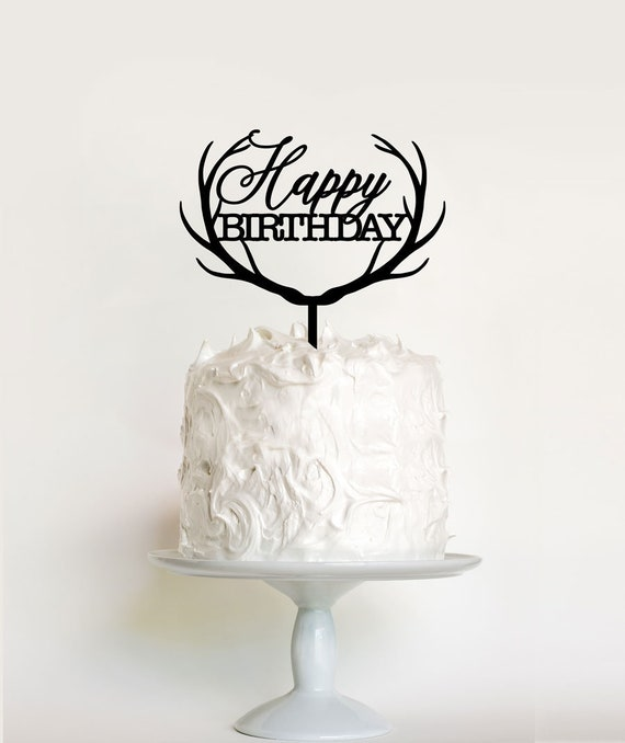 Happy 25th birthday cake topper for 25th birtday party decor Black acrylic btsond