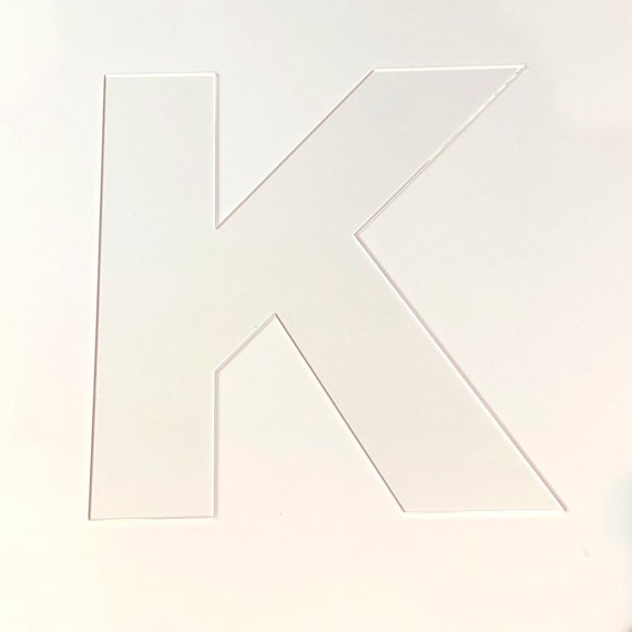 Cookie Cake Stencil Letter K Cookie Cake Lasercut Letters Large Letter K Acrylic Stencils Birthday Cake Made In Australia