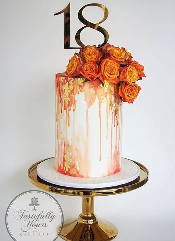 Peachy 18Th Birthday Cake Topper Number 18 Birthday Cake Decoration Etsy Personalised Birthday Cards Veneteletsinfo