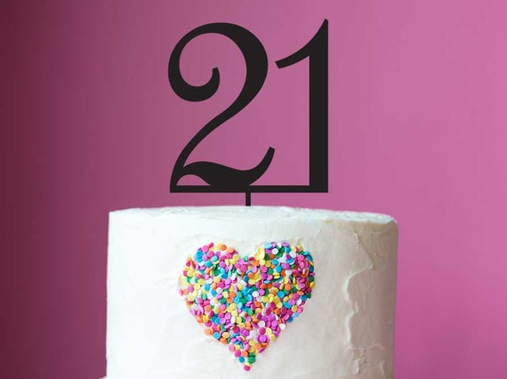 21st Birthday Cake Topper Laser Cut Number 21